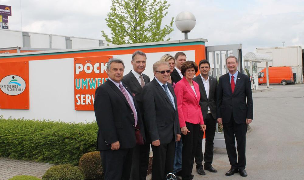 Wirtschaftskammerpräsident Leitl zu Besuch bei Pöck's Umweltservice
