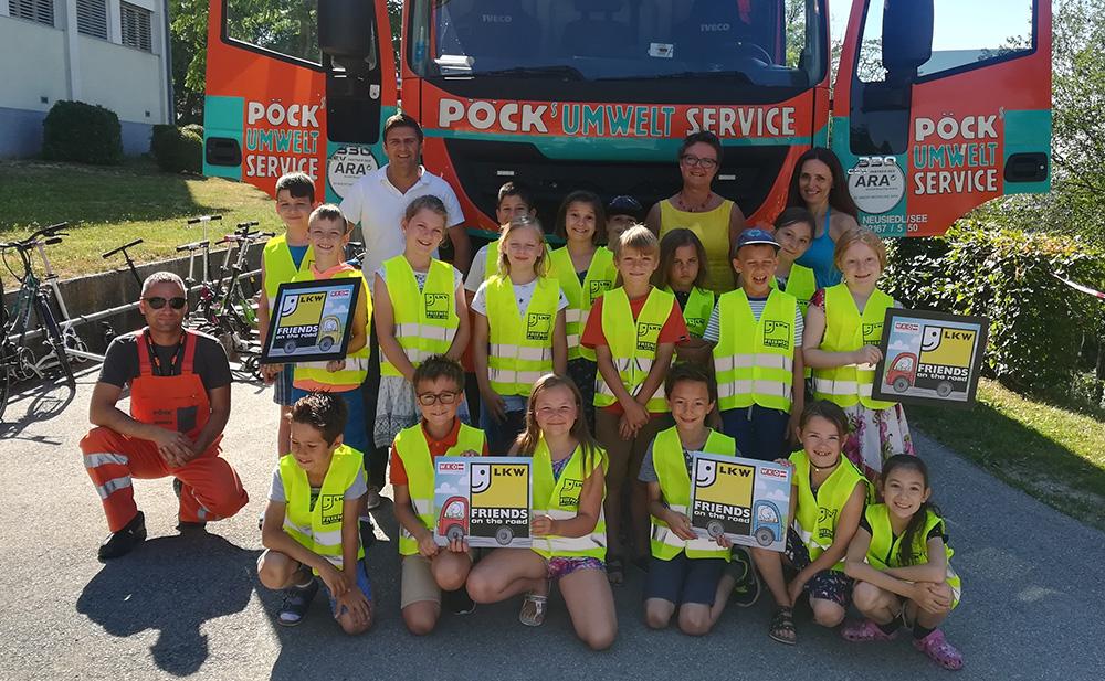 Pöck's LKW Projekt in der Volksschule Neusiedl am See