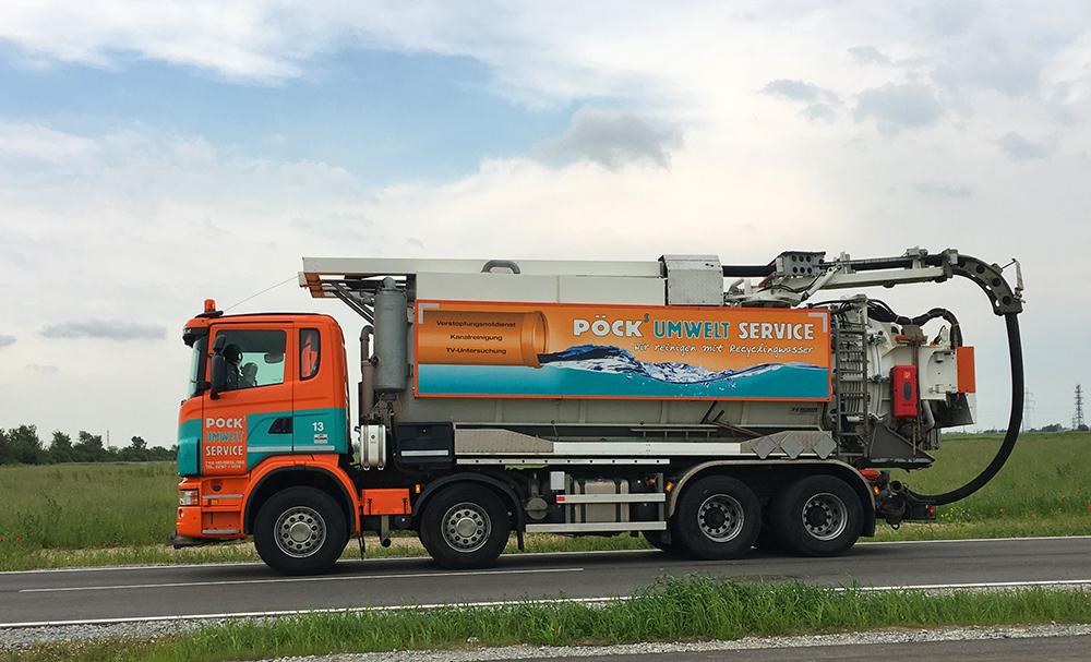 Pöck's Kanalspül-Lkw