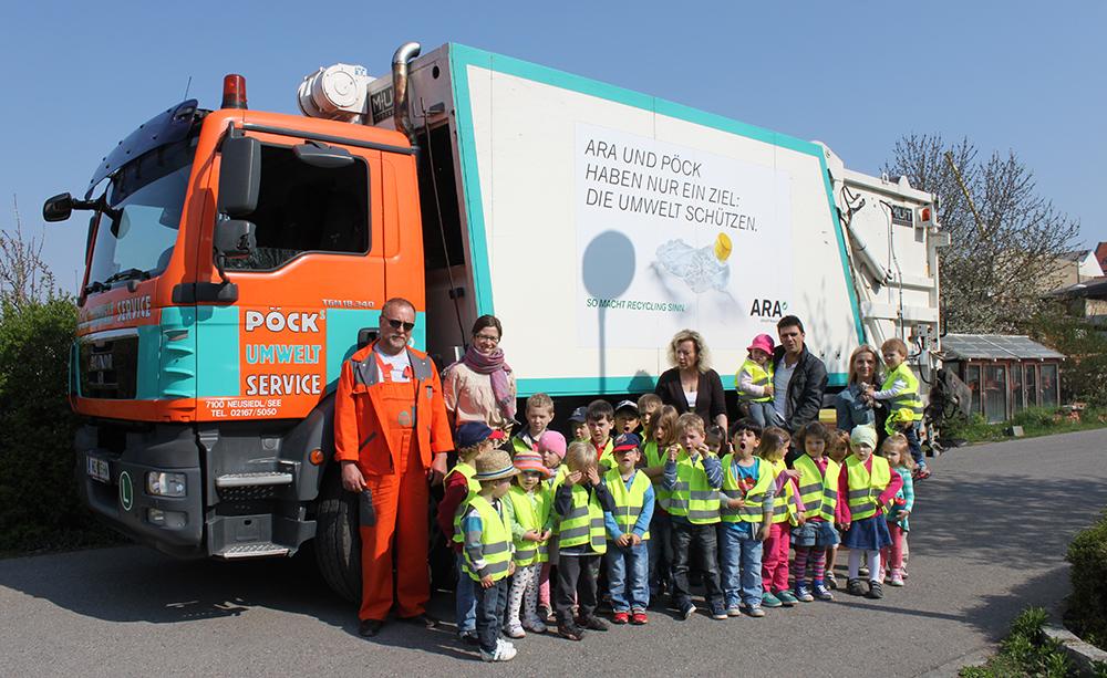 Pöck's Umwelt Service zu Besuch im Kindergarten Neusiedl am See